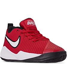 Nike Big Boys Team Hustle Quick 2 Basketball Sneakers from Finish Line