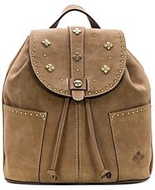 Burnished Suede Leather Vasto Backpack