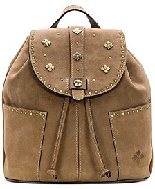 Patricia Nash Burnished Suede Leather Vasto Backpack