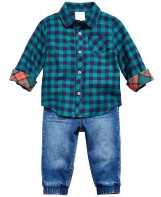 Baby Boys Denim Jogger Pants, Created for Macy's