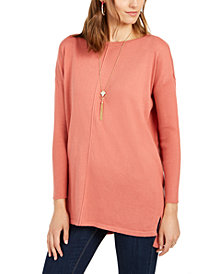 Style & Co Seam-Front Tunic Sweater, Created for Macy's
