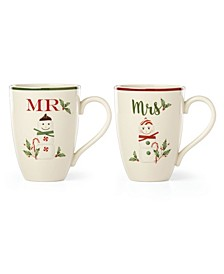 Mr. and Mrs. Marshmellow Mug Set