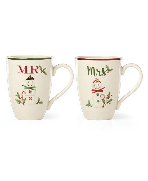 Lenox Mr. and Mrs. Marshmellow Mug Set