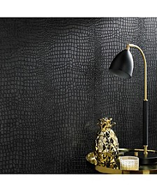Graham Brown Crocodile Black Wallpaper