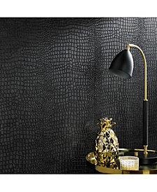 Graham Brown Crocodile Black Wallpaper