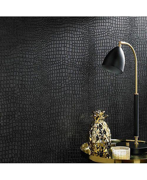 Graham & Brown Graham Brown Crocodile Black Wallpaper