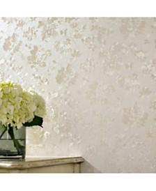 Graham Brown Floral Silk Cream Shimmer Wallpaper