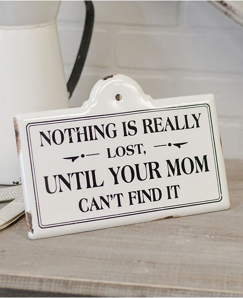 "VIP Home & Garden VIP Home International Metal ""Nothing Is Lost"" Sign"