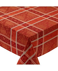 Design Imports Pumpkin Vine Jacquard Tablecloth