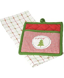 Design Imports Merry X-mas Tree Potholder Gift Set