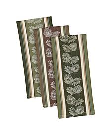Pine Sprig Jacquard Dishtowel Mixed Set