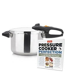 "Zavor Duo 6.3-Qt. Pressure Cooker with Americas Test Kitchen ""Pressure Cooker Perfection"" Cookbook"