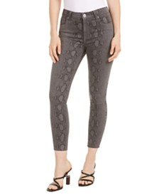 STS Blue Ellie Snake-Print Skinny Ankle Jeans