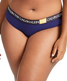Calvin Klein Women's Plus Size 1981 Bold Cotton Bikini QF5654