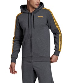 adidas Men's 3-Stripe Fleece Zip Hoodie
