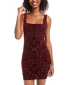 Juniors' Velvet Burnout Sheath Dress