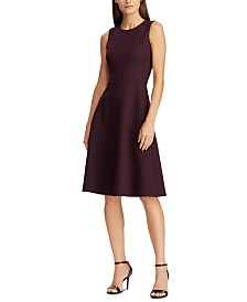 Lauren Ralph Lauren Sleeveless Ponte Fit & Flare Dress