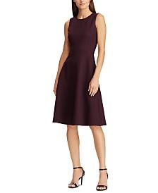 Lauren Ralph Lauren Sleeveless Ponte Fit & Flare Dress