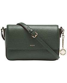 DKNY Sutton Leather Bryant Flap Crossbody, Created for Macy's