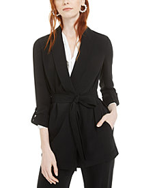 Bar III Shawl-Collar Belted Blazer, Created for Macy's