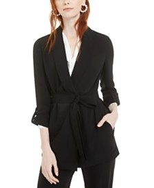Bar III Shawl-Collar Belted Jacket, Created for Macy's