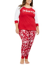 Matching Family Pajamas Plus Size Merry Pajama Set, Created For Macy's