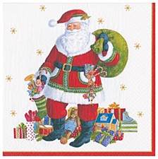 Santa Claus Lane Paper Cocktail Napkin