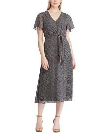 Lauren Ralph Lauren Botanical-Print Georgette Midi Dress