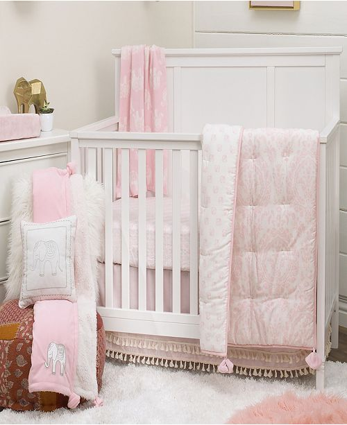 NoJo Boho Safari 4-Piece Crib Bedding Set