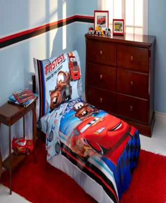 Cars Lightening McQueen Fleece Toddler Pillow
