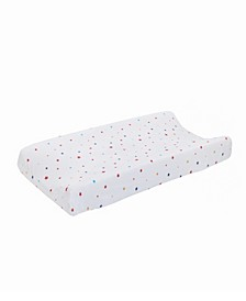 Doodle Dog Star Print Changing Pad Cover