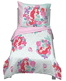Little Mermaid Sea Garden 4-Piece Toddler Bedding Set