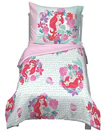 Disney Little Mermaid Sea Garden 4-Piece Toddler Bedding Set