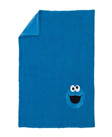 Cookie Monster Sherpa Blanket with Applique