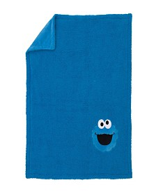 Sesame Street Cookie Monster Sherpa Blanket with Applique