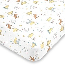 Classic Winnie the Pooh Fitted Crib Sheet