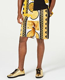 Reason Men's Marble & Gold Shorts