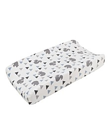Mountain Patchwork Plush Changing Pad Cover