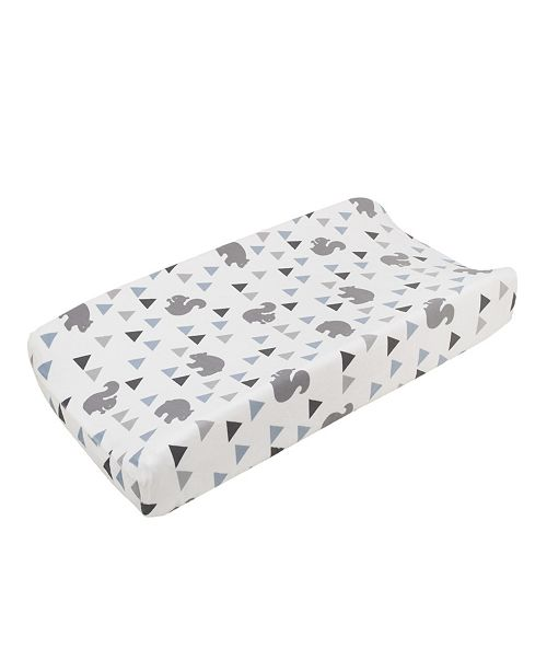 NoJo Mountain Patchwork Plush Changing Pad Cover