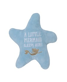 Little Mermaid Embroidered Starfish Pillow