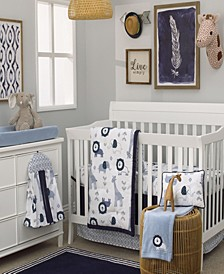 Mosaic Animals 8-Piece Crib Bedding Set