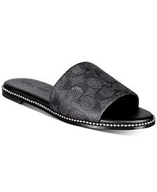 COACH Hayden Beadchain Flat Slide Sandals