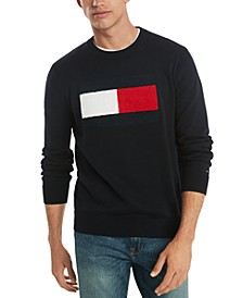 Men's Stan Regular-Fit Tufted Chenille Logo Sweater