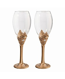 Lillian Rose Gold Wine Glass Set