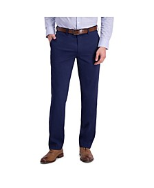 Comfort Stretch Mini Stripe Slim Fit Flat Front Dress Pant
