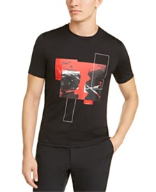Michael Kors Men's Pieced Abstract Graphic T-Shirt