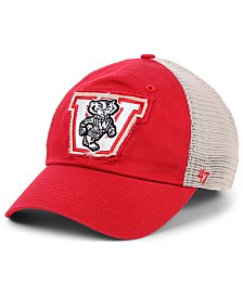 '47 Brand Wisconsin Badgers Stamper CLOSER Stretch Fitted Cap