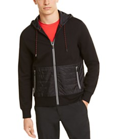 Michael Kors Mens Kors X Tech Padded Full-Zip Hoodie