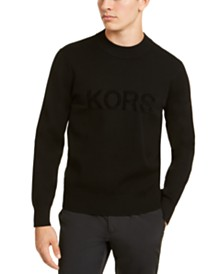 Michael Kors Men's Velour Jacquard Sweater