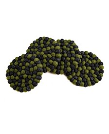 Round Felt Ball Pom Pom Coaster, Set of 4